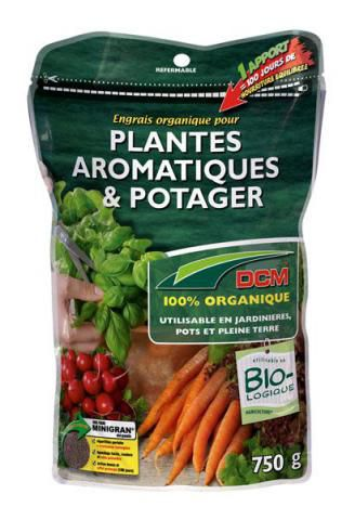 Engrais Organique DCM  pour plantes aromatiques et potager : 750 gr