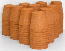 Godets de tourbe Jiffy : Diamètre 8 cm - 100 Pièces