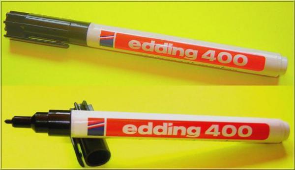 Marqueur Edding 400 noir : Marqueur indélébile pour étiquettes horticoles