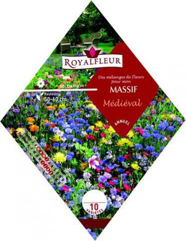 Mélange de Fleurs  MASSIF Médiéval : 1.8 m²