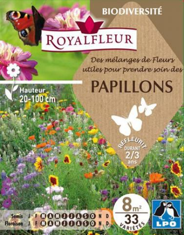 Mélanges de Fleurs pour PAPILLONS : pour 8 m²