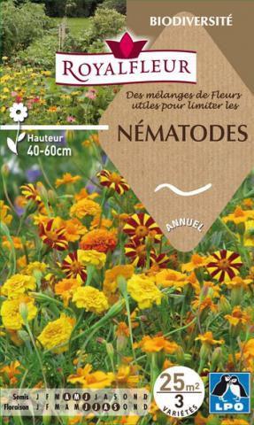 Mélanges de Fleurs utiles pour limiter les NEMATODES : pour 25 m²