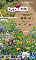 Mélanges de fleurs pour PROTEGER jardin et potager : pour 25 m²