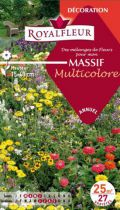 Mélanges de Fleurs MASSIF Multicolore : pour 25 m²