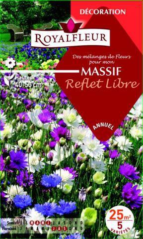 Mélanges de Fleurs MASSIF Reflet Libre : pour 25 m²