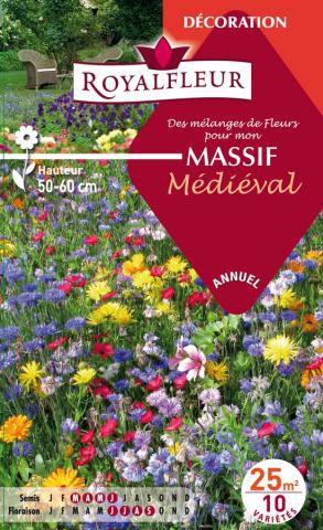 Mélanges de Fleurs pour mon MASSIF Médieval : pour 25 m²