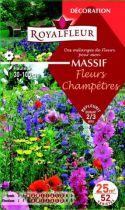 Mélanges MASSIF Fleurs Champêtres : pour 25 m²