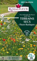 Mélanges TERRAINS SECS -Fleurs Rustiques- : pour 25 m²