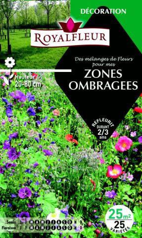 Mélanges de fleurs pour  ZONES OMBRAGEES : pour 25 m²