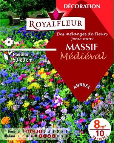 Mélanges de Fleurs pour mon MASSIF Médieval : pour 8 m²