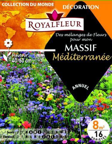 Mélanges de fleurs pour MASSIF Méditerranée : pour 8 m²