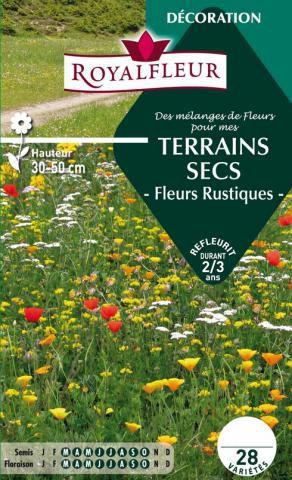 Mélanges TERRAINS SECS -Fleurs Rustiques- : pour 8 m²