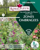 Mélanges de fleurs pour  ZONES OMBRAGEES : pour 8 m²