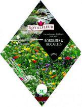 Mélanges de fleurs pour BORDURES & ROCAILLES : pour 8 m²
