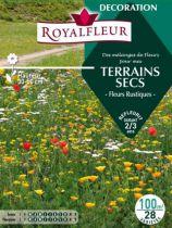 Mélanges de Fleurs Spécial JACHÈRE TERRAINS SECS -Fleurs Rustiques- : 100 m²