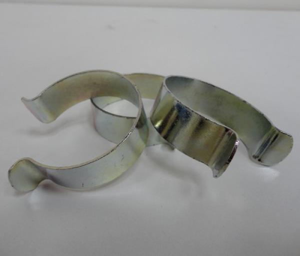 Clips de fixation pour bâches et film de serre : 25 pièces en acier de 60 mm de diamètre x 20 mm de large