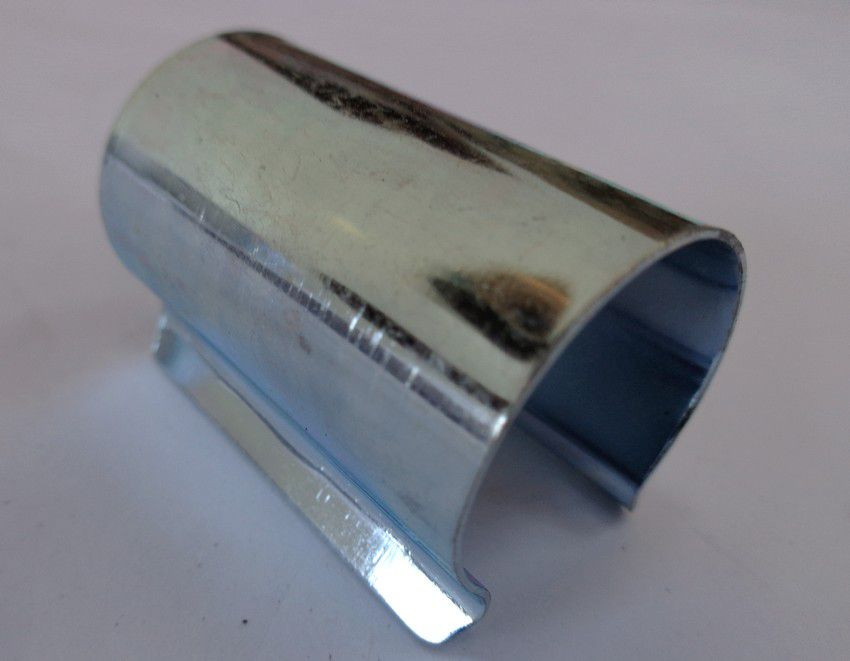 Clips de fixation pour bâches et film de serre : 25 pièces en acier de 25 mm diamètre x 40 mm de large