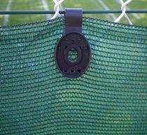 Brise-vue en polyéthylène haute densité traité anti-uv  : vert foncé, finition simple, 2 x 25 mètres