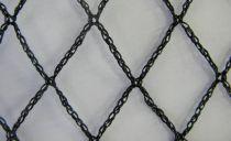 Filet anti-oiseaux tricoté noir : Mailles 15 x 15 mm