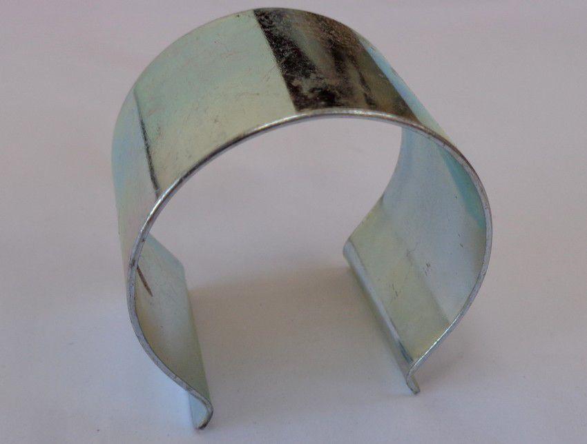Clips de fixation pour bâches et film de serre : 25 pièces en acier - 50 mm de diamètre x 20 mm de large