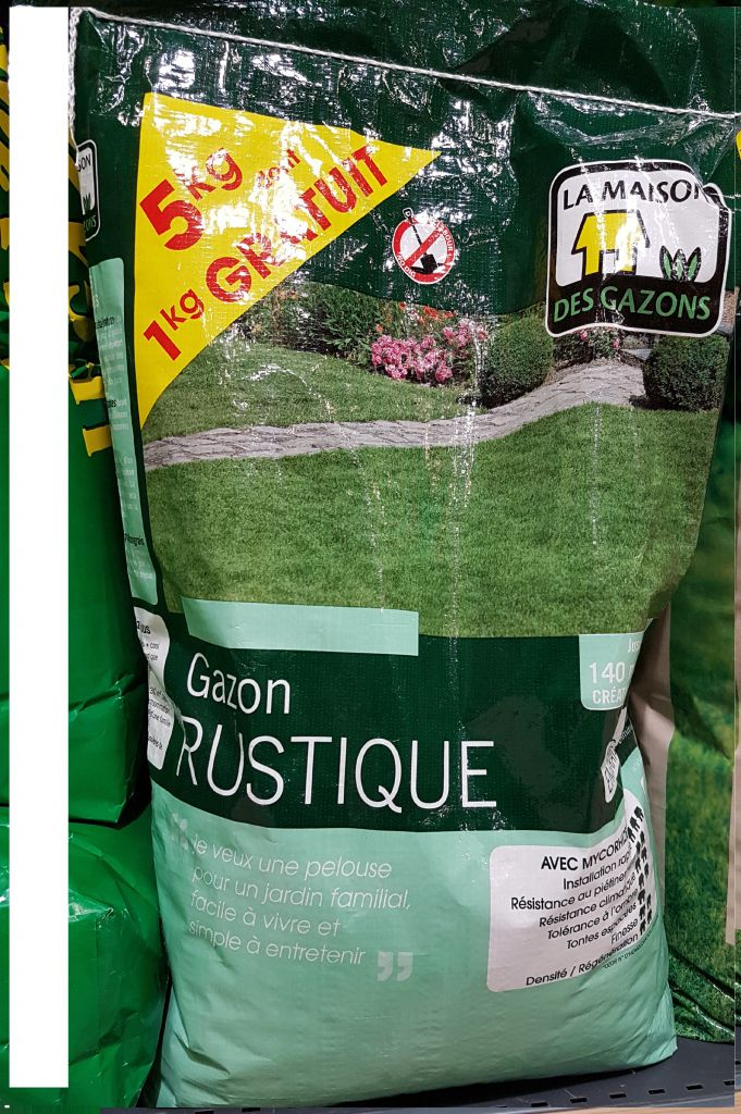 GAZON RUSTIQUE MDG 4+1 Kg avec engrais : Sac de 5 kg