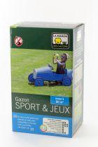 GAZON SPORT ET JEUX MDG : boîte de 1 kg /  boîte de 2.5 kg / sac de 10 kg / sac de 25 kg