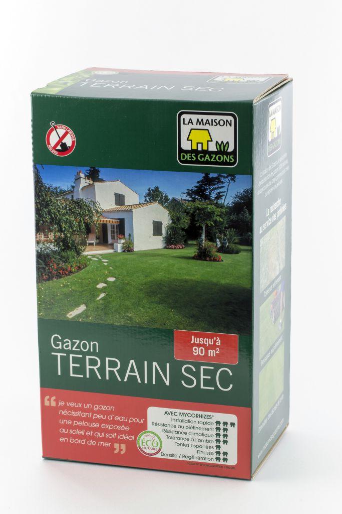 la maison des gazons gazon semer terrain sec mdg boite de 1 kg. Black Bedroom Furniture Sets. Home Design Ideas