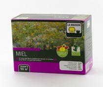 Jachère fleurie \'MIEL\' de La Maison des Gazons, spécial miel et papillons : boite de 500 gr