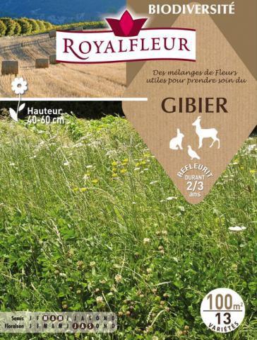 Mélanges de Fleurs pour prendre soin du GIBIER : 100 m²