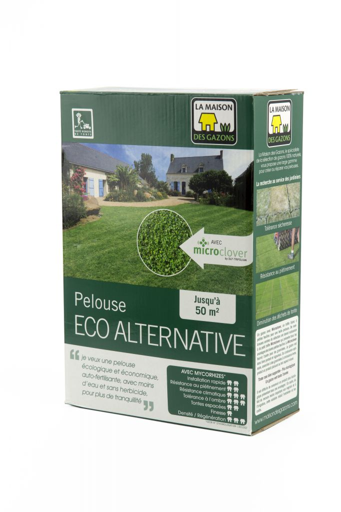 PELOUSE ECO-ALTERNATIVE : boîte de 1 kg /  boîte de 2.5 kg / sac de 10 kg